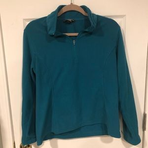 Lands End 1/4 Zip Fleece Turquoise